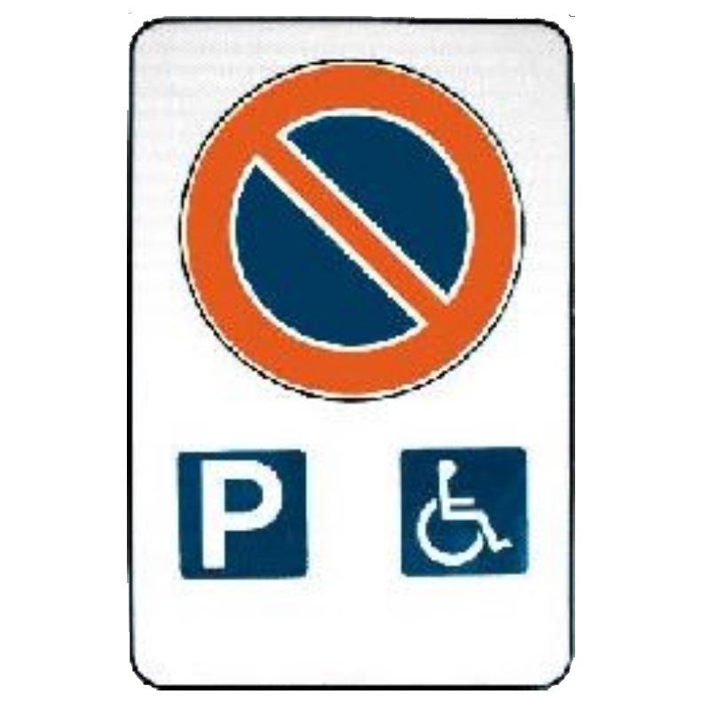 Cartello sosta riservata handicap