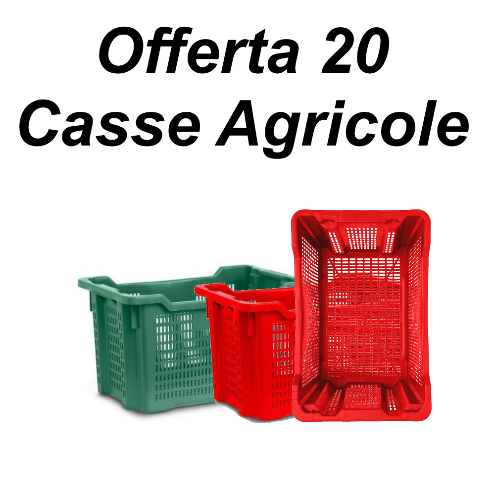 Cassette in plastica agricole impilabili aperte per olive