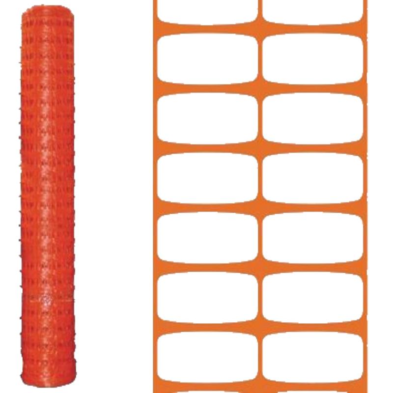 Rete da cantiere per recinzione in polietilene L 50 mt. H 100 cm.