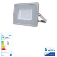 V-TAC PRO VT-50 Faro LED SMD Chip Samsung 50W Colore Grigio 6400K IP65 - SKU 465
