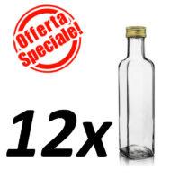 Bottiglia marasca trasparente ml.250 - OFFERTA 12 PEZZI