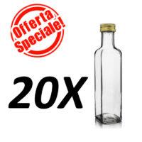 Bottiglia marasca trasparente ml.100 -- OFFERTA 20 PEZZI