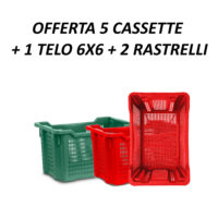 OFFERTA 5 CASSETTE + 1 TELO LIGHT APERTO 6X6 + 2 RASTRELLI